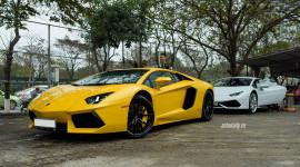 Bộ 3 siêu xe Lamborghini tụ họp tại Hà Nội chuẩn bị cho sự kiện Car Passion