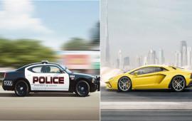 Cảnh sát dùng xe tuần để đua với Lamborghini Aventador