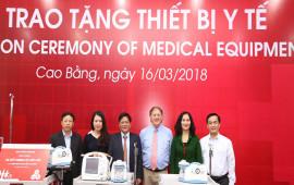 Quỹ Toyota Việt Nam trao tặng thiết bị y tế cho các bệnh viện tại Cao Bằng
