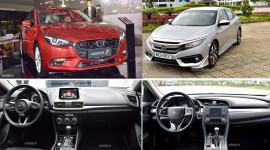 So sánh Mazda3 2.0L và Honda Civic 1.8E: Cán cân nghiêng về bên nào?