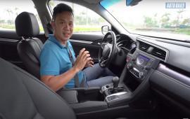 Thử phanh tay điện tử trên Honda Civic 1.8E