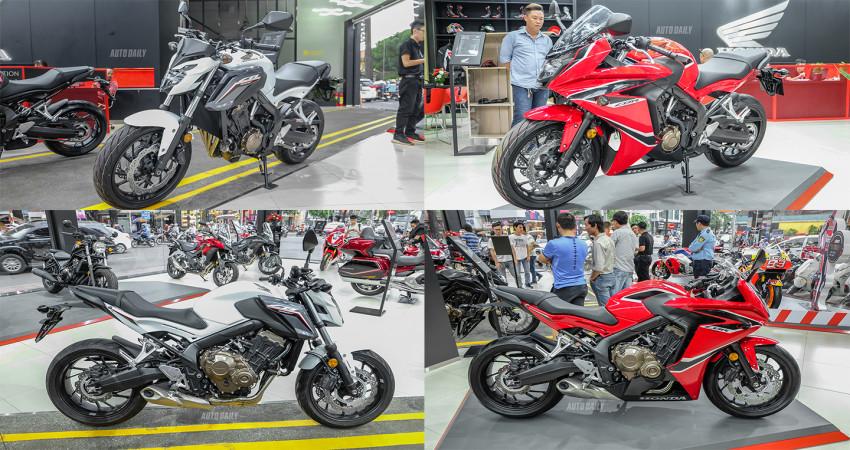 Cận cảnh Honda CB650F và CBR650F tại Việt Nam
