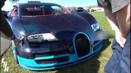 Bugatti Veyron Grand Sport Vitesse lao vào rào chắn sau khi đạt 334 km/h