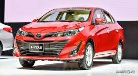 Giá lăn bánh các phiên bản của Toyota Vios 2018