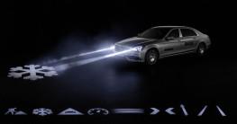 Mercedes S-Class có thể giao tiếp với con người qua đèn pha
