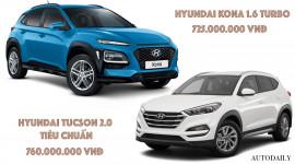 Mua Hyundai KONA Turbo hay thêm tiền lấy Tucson bản thấp nhất?