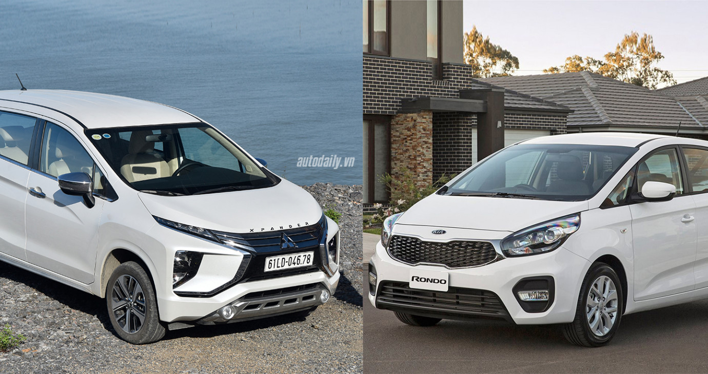So sánh Mitsubishi Xpander AT và Kia Rondo GAT