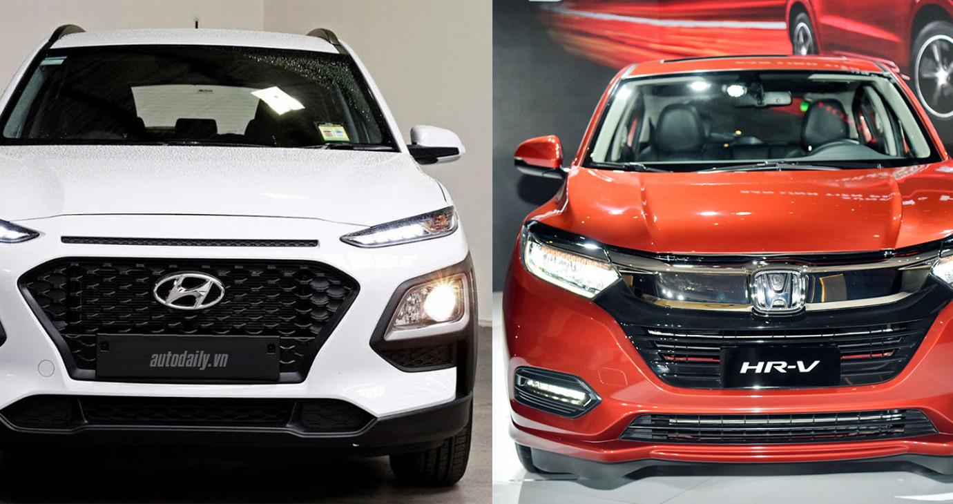 So sánh Hyundai KONA Turbo và Honda HR-V L 2018