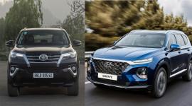 Nên chọn Toyota Fortuner tiện dụng hay Hyundai Santafe phong cách?