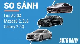 So sánh Sedan VinFast với Camry và Mazda6