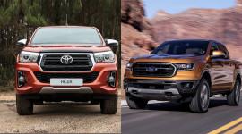 Xe bán tải đi phố, chọn Toyota Hilux hay Ford Ranger 2018?