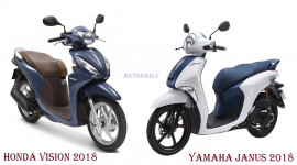 Xe ga cho nữ chọn Honda Vision hay Yamaha Janus?