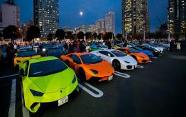 Hơn 200 siêu xe Lamborghini cùng ra mắt ấn tượng