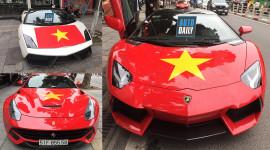 |AFF Cup 2018| Siêu xe khắp cả nước dán tem cổ vũ đội tuyển Việt Nam