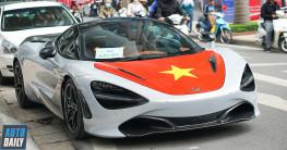 |AFF Cup 2018| Siêu xe McLaren 720S dán tem cờ đỏ sao vàng cổ vũ tuyển Việt Nam