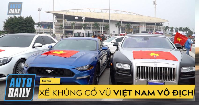 |AFF Cup 2018| Xe siêu sang Rolls-Royce xuống đường cổ vũ đội tuyển Việt Nam