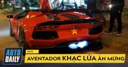 """ AFF Cup 2018  Siêu xe Aventador """"khạc lửa"""" mừng tuyển Việt Nam vô địch"""