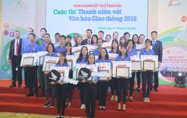 """Trao giải Cuộc thi """"Thanh niên với Văn hóa giao thông"""" năm 2018"""