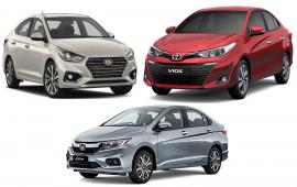 Honda City, Toyota Vios, Hyundai Accent quyết đấu dịp cuối năm