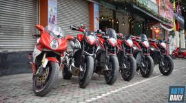 Dàn xe MV Agusta tụ họp ngày cuối năm tại Hà Nội
