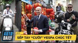 """Sếp Tây """"cưỡi"""" Vespa, ngẫu hứng cover """"Điệp khúc mùa xuân"""" chúc Tết đầy thú vị"""