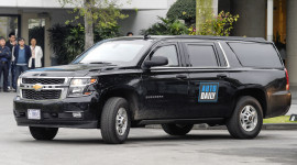Chiêm ngưỡng dàn SUV khủng Chevrolet Suburban hộ tống tổng thống Mỹ tại Hà Nội