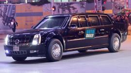 """""""Quái thú"""" The Beast lên đường đi đón tổng thống Donald Trump"""
