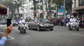 Mercedes S600 Pullman Guard của Kim Jong Un trên phố Hà Nội