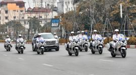 Dàn môtô Yamaha FJR1300P hộ tống Donald Trump và Kim Jong-un