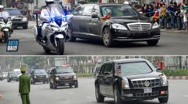 """So sánh xe bọc thép Mercedes của ông Kim Jong Un và """"Quái thú"""" của ông Trump"""