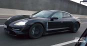 Xe điện hạng sang Porsche Taycan lộ diện trên đường chạy thử