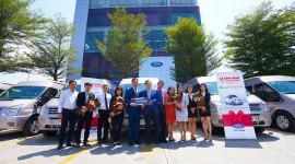 City Ford bàn giao 30 xe Ford Transit cho Green Leaf Việt Nam