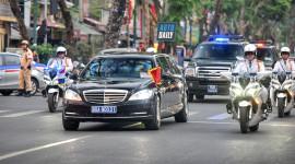 Mercedes S600 Pullman Guard chống đạn đưa đón Thủ tướng Hà Lan tại HN
