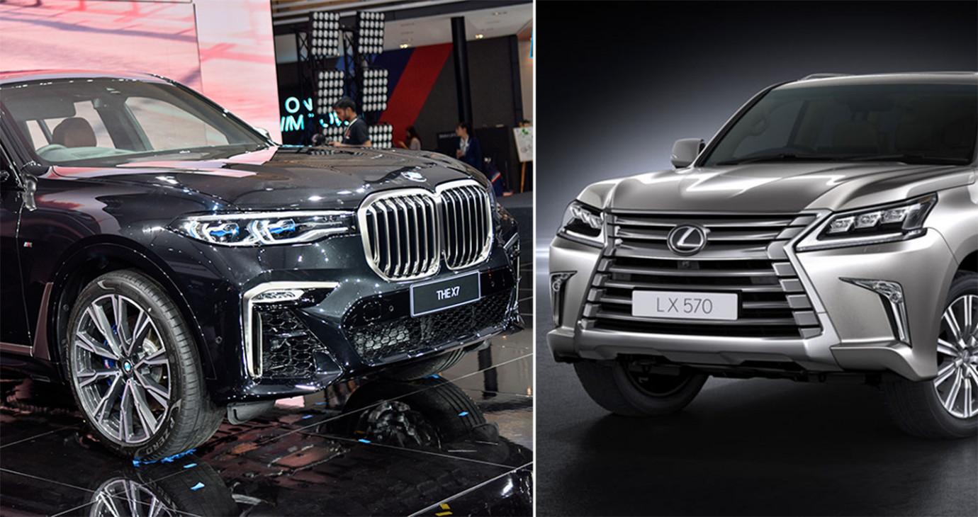 So sánh nhanh 'khủng long' BMW X7 và 'chuyên cơ mặt đất' Lexus LX570