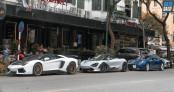 Chùm ảnh dàn siêu xe Lamborghini, McLaren, Ferrari offline tại HN