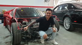 Ferrari 488 GTB của Tuấn Hưng sắp được phục hồi sau tai nạn