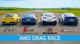 VIDEO: Porsche 911 2020 đua với Audi R8, Nissan GT-R Nismo và BMW M850i