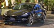 Xe sang Tesla Model 3 đầu tiên về Việt Nam lăn bánh tại Hà Nội