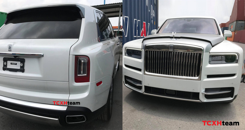 SUV siêu sang Rolls-Royce Cullinan màu trắng về Việt Nam