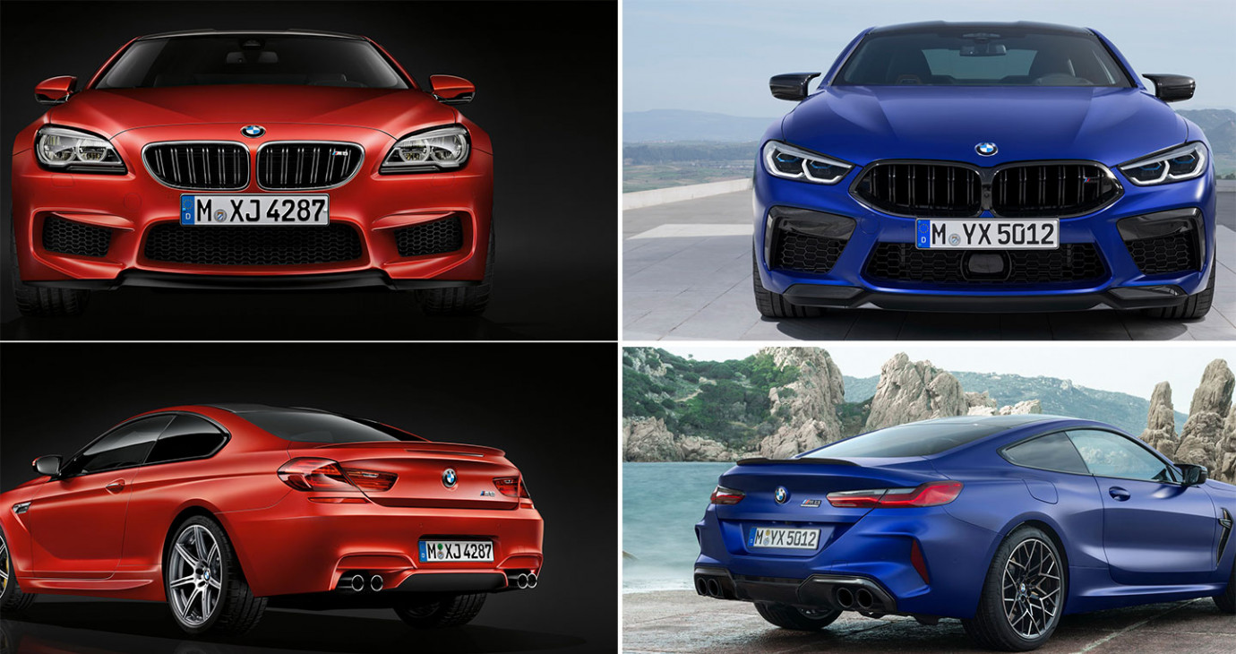 So sánh BMW M8 Competition với M6 Competition Pack