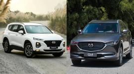 Chọn Mazda CX-8 Premium hay Hyundai SantaFe dầu Premium?
