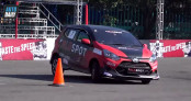 Tay đua Việt chạy Toyota Wigo tranh tài tại Auto Gymkhana châu Á