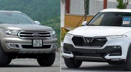 VinFast Lux SA2.0 ĐỐI ĐẦU Ford Everest Biturbo: Bạn chọn xe nào?