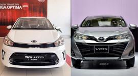 Chạy dịch vụ, chọn Kia Soluto MT hay Toyota Vios MT?
