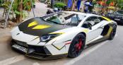 Lamborghini Aventador màu sắc lạ mắt, độ pô kiểu xe đua tại Hà Nội