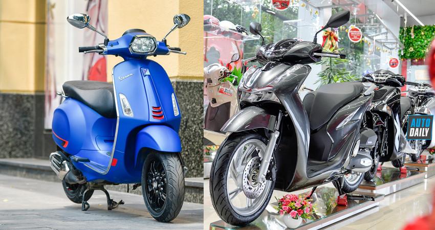 Dưới 80 triệu, chọn Honda SH 125cc ABS 2020 hay Vespa Sprint S chơi Tết?