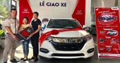 Mua Honda Vision giá 30 triệu, nữ khách hàng may mắn trúng ô tô HR-V giá hơn 800 triệu