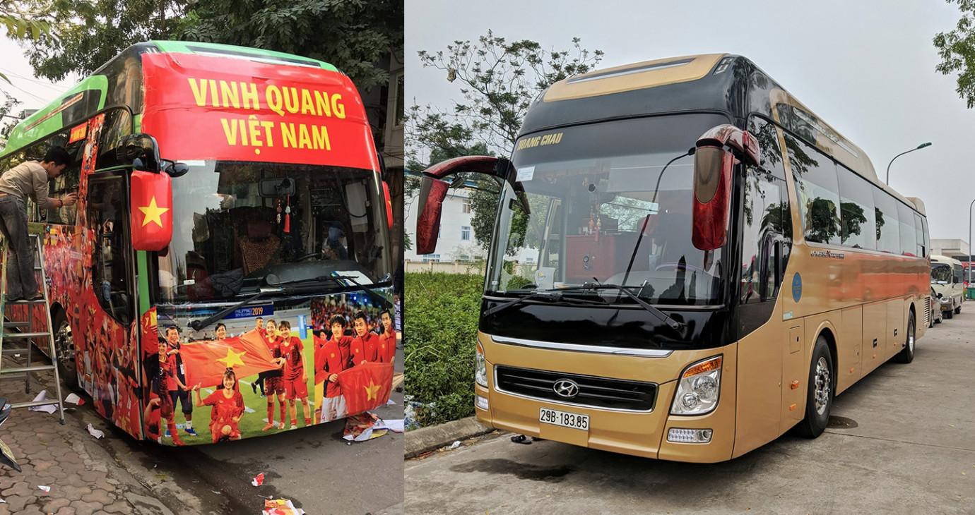 Lộ diện xe đón đội tuyến U22 Việt Nam từ sân bay về Văn phòng Chính phủ