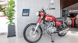 """Cận cảnh """"xế cổ"""" Honda CB350F có tuổi đời gần 50 năm tại Sài Gòn"""