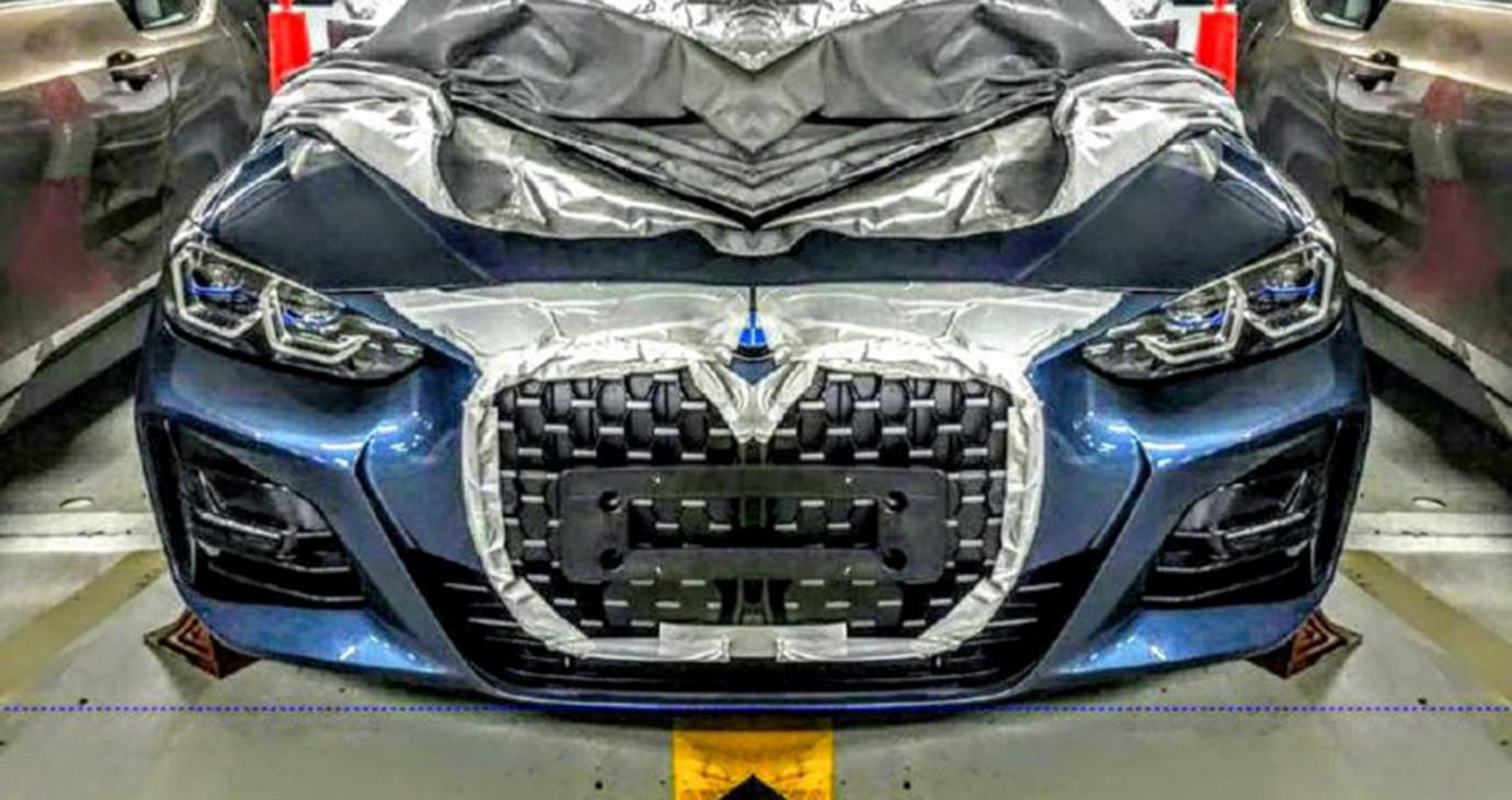 Rò rỉ ảnh BMW 4-Series 2021 với lưới tản nhiệt gây tranh cãi